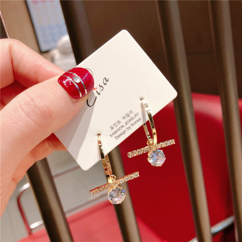 Alloy Korea Geometric earring  (Alloy ring drill)  Fashion Jewelry NHQG1527-Alloy-ring-drill