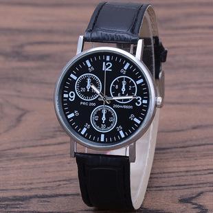 Manufacturers stock cross-border fashion sports three-eye belt watch men's quartz watch unisex couple watch watch wholesale