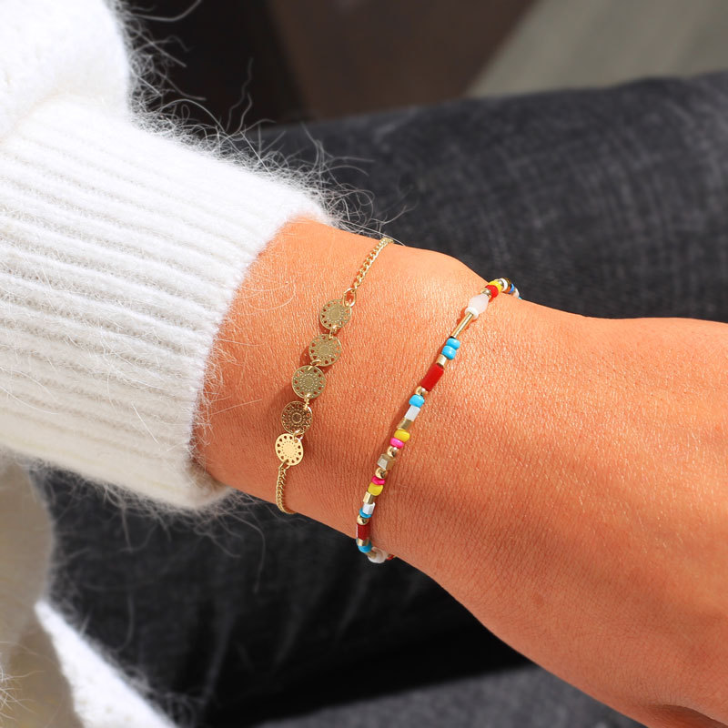 Alloy Simple bolso cesta bracelet  (Color mixing)  Fashion Jewelry NHNZ1327-Color-mixing