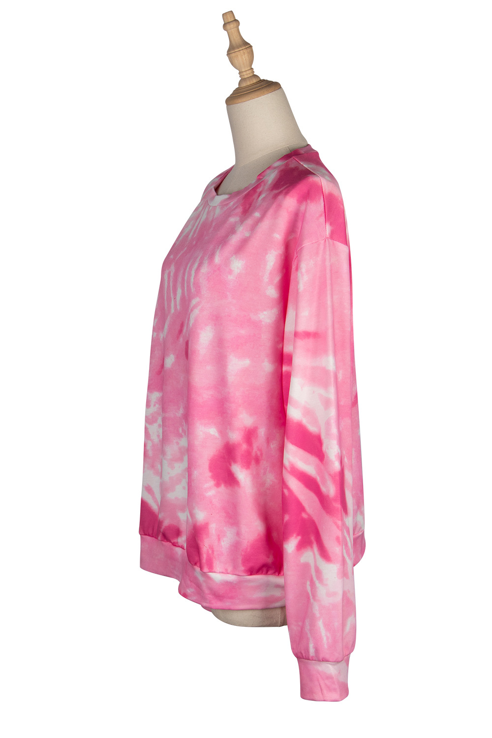 hot style printed tie-dye sweater women's long-sleeved round neck pullover sweater NSDF1284
