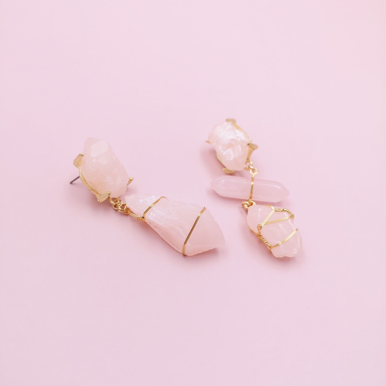 Fashion earrings asymmetric geometric acrylic resin stud earrings nihaojewelry wholesale NHJJ214913