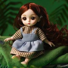 礼盒sd换装关节bjd娃娃 16cm仿真洋娃娃 女孩玩具公主芭比娃娃