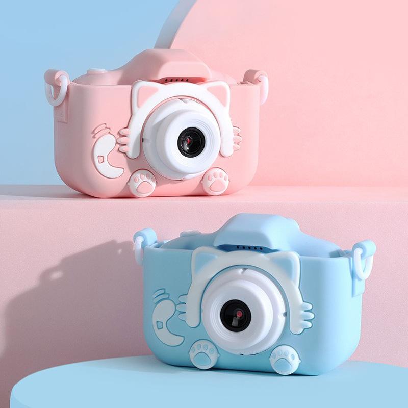 x5S 儿童相机高清双摄生日礼物儿童迷你卡通数码照相机