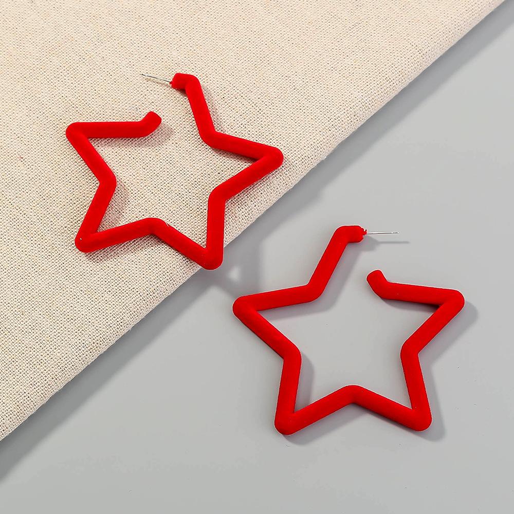 five-pointed star fashion earrings NHAN280083