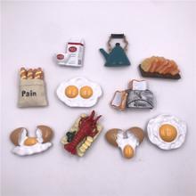 仿真欧式高档食物树脂冰箱贴磁性鸡蛋面包立体创意番茄龙虾面包机