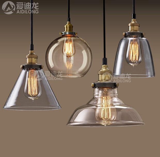 设计师Loft餐厅吧台北欧美式乡村工业风创意单头玻璃吊灯