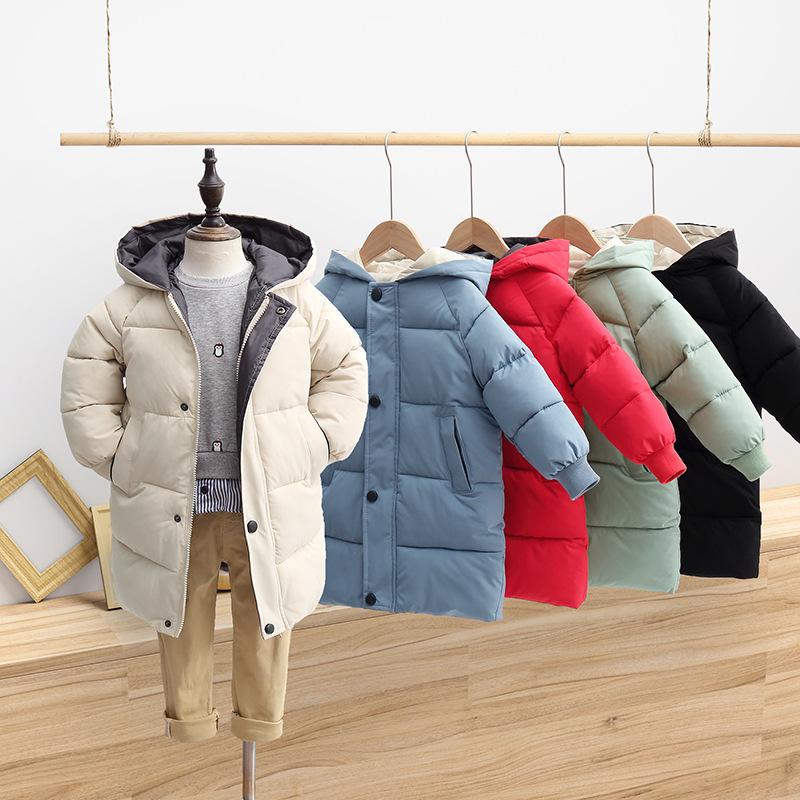 2021新款儿童羽绒棉服男童中长款 女童冬装韩版棉衣 宝宝加厚衣服