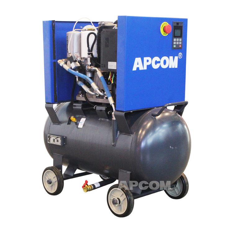 22kw螺杆空压机带罐一体式 静音喷漆用小型空气压缩机