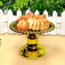 跨境貨源歐式電鍍蛋糕塑料托盤甜點糕點托盤會場糕點擺件廠家直銷