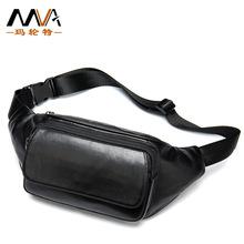 MVA羊皮手机腰包 男士简约时尚软皮休闲手机腰包 真皮男包潮现货
