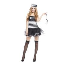 一件代發囚犯服裝犯人衣服女囚犯衣服女囚服條紋囚犯套裝