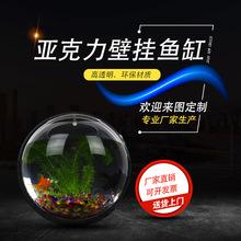 亚克力透明生态鱼缸挂式鱼缸壁挂鱼缸 亚克力鱼缸墙上生态鱼缸