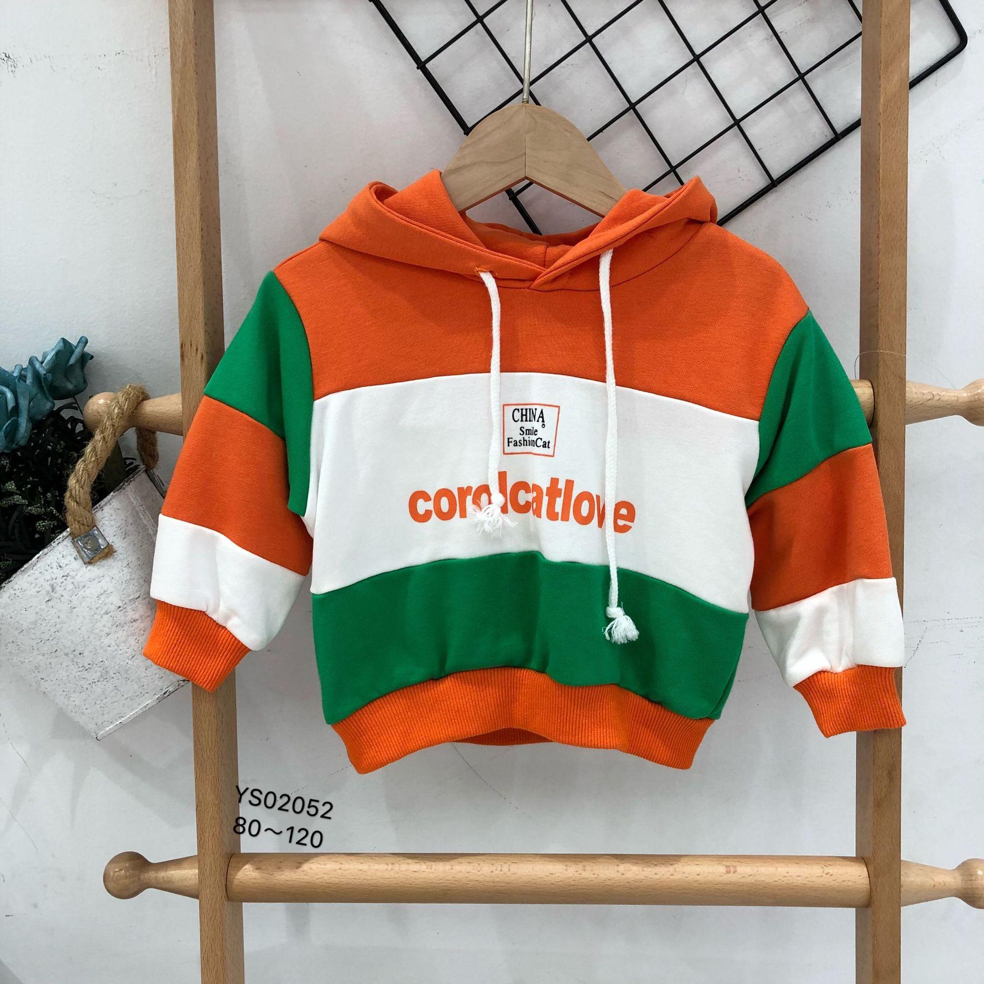 名雪服饰品牌童装秋装拼色韩版童卫衣 儿童上衣 小童卫衣批发