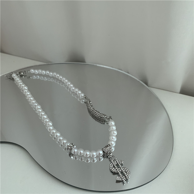 diamonds pearls hiphop style necklaces NHYQ295020