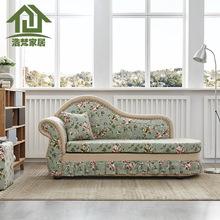贵妃躺椅美人榻现代卧室小户型沙发床太妃椅欧式简约布艺单人塌