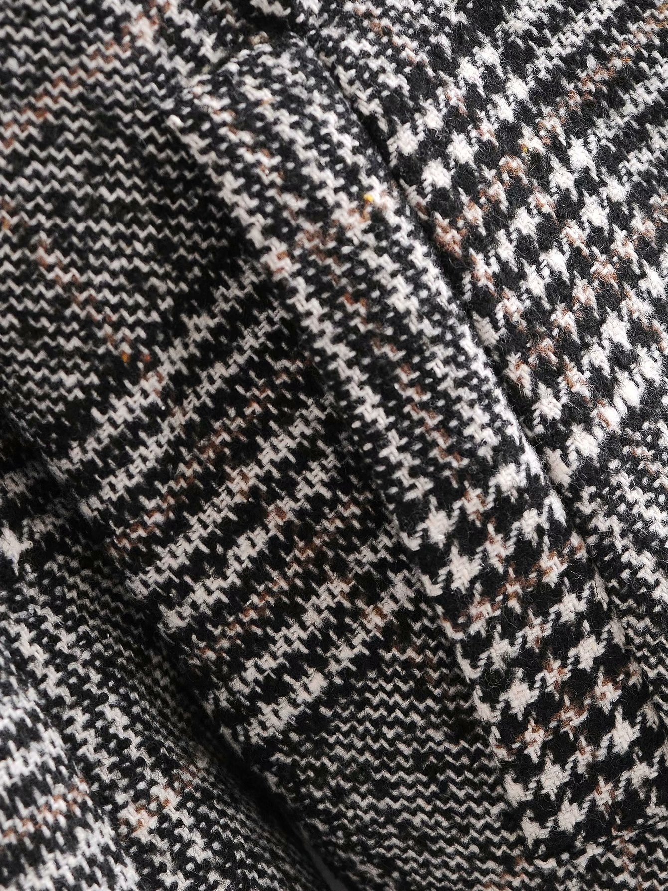 wholesale autumn houndstooth double-breasted women's woolen coat jacket  NSAM3546