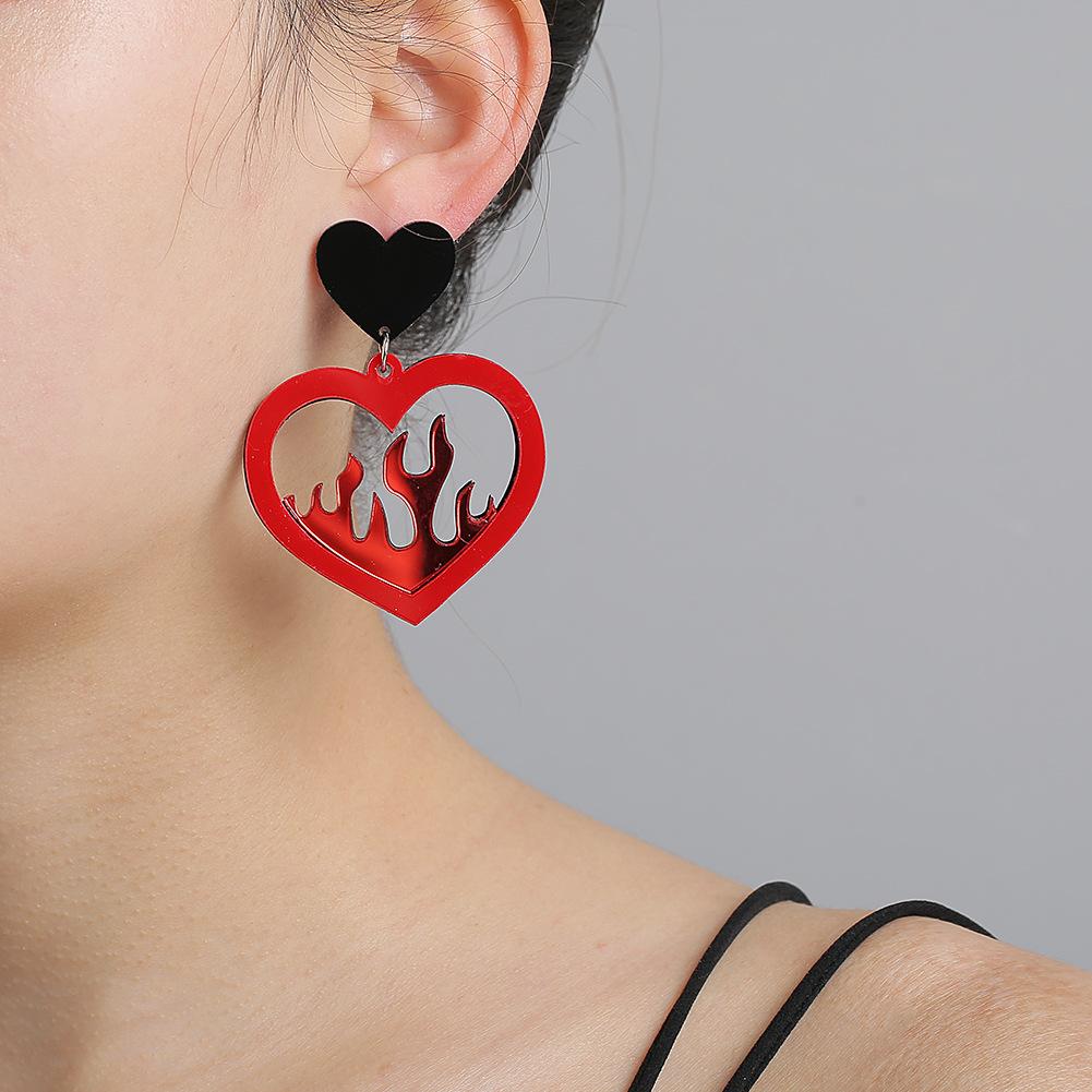 Korean Acrylic Hollow Earrings for women wholesale NHJJ205189