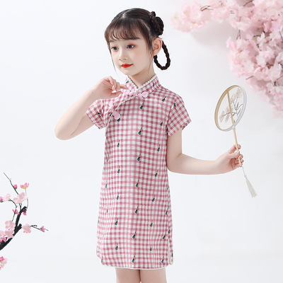 Cheongsam for kids Girl Chinese Dress cheongsam skirt Chinese children Chinese Dress cheongsam dress foreign style little girl Chinese Dress cheongsam