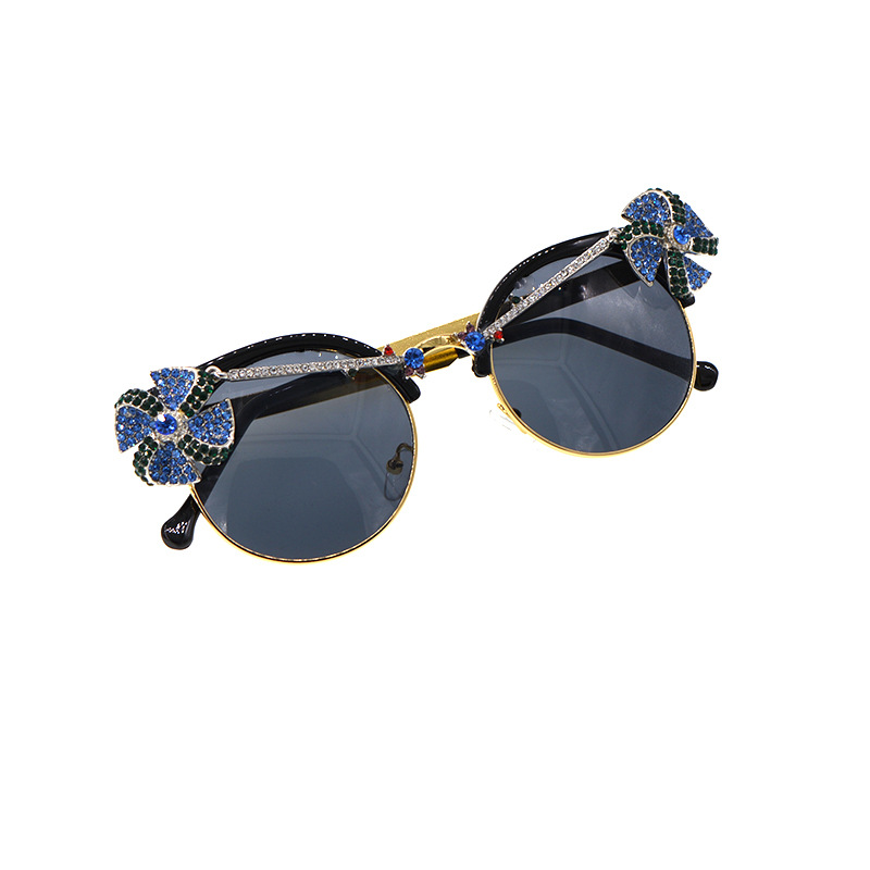Korean fashion simple new Diamondshaped sunglasses windmill new tide  was thin borderless gradient   UV protection sunglasses nihaojewelry wholesale NHNT216276