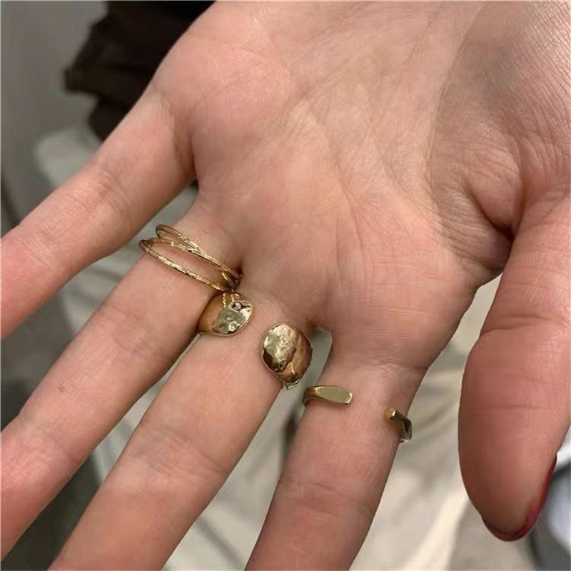 Nihaojwelry Three-piece jewelry simple open wild ring wholesales fashion NHYQ201396