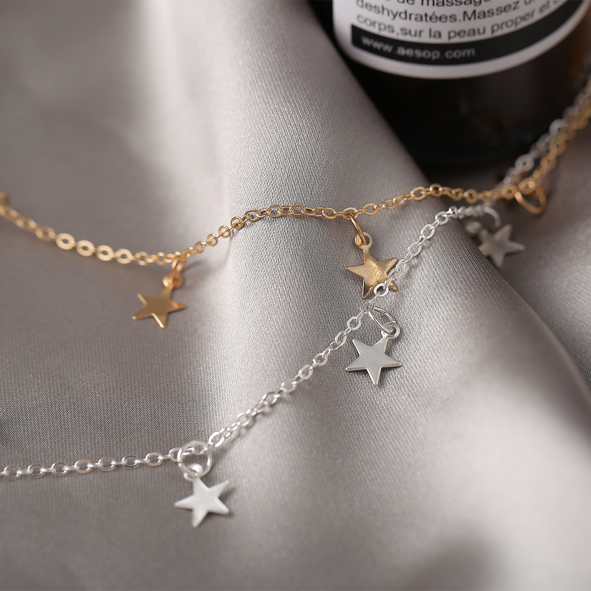 alloy  creative  simple fivepointed star pendant necklace NHYI286566