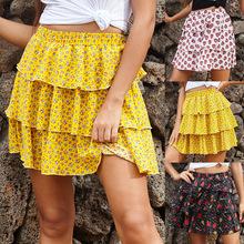 2020半身裙a字裙高腰显瘦小清新甜美新秋季欧美女装短裙一件代发