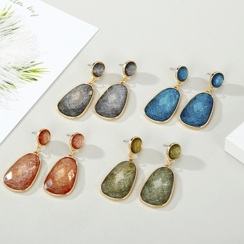 Jewelry new resin silk earrings crystal earrings long earrings  NHGO201036