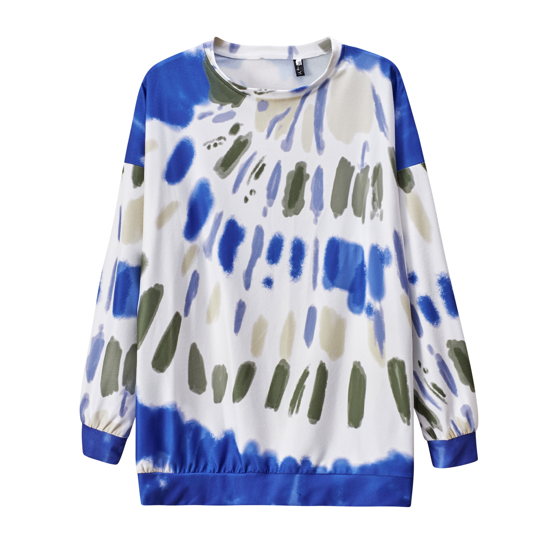 autumn and winter new long-sleeved women's round neck casual loose tie-dye sweater  NSYF849