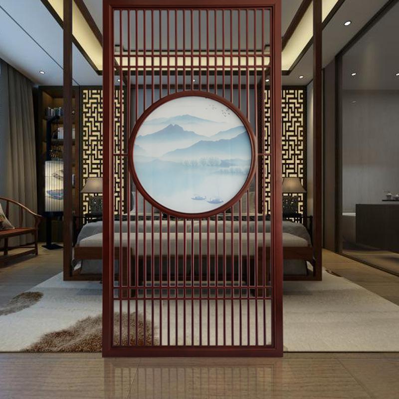厂家直销新中式屏风隔断实木花格玄关客厅书房办公室格栅镂空定制