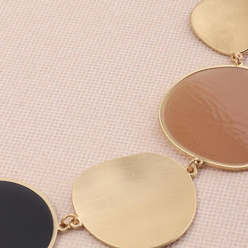 jewelry fashion irregular lens necklace exaggerated geometric choker necklace wholesale nihaojewelry NHNZ238213