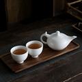 羊脂玉功夫茶具套装一壶两杯简约功夫茶具小套装德化白瓷盖碗茶杯