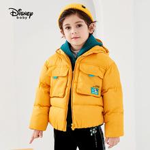 迪士尼男童短裤工装羽绒服2020秋冬新款时尚洋气儿童宝宝外套潮