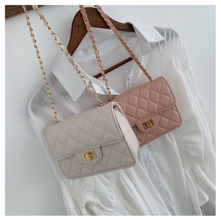 Lingge chain bag new Korean messenger small square bag autumn and winter shoulder bag NHTC205543