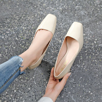 0688-2 han edition fashion shallow square head high heels web celebrity sexy mouth grandma shoes show thin thick with professional OL for women's shoes