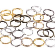 diy饰品材料配件 多尺寸双圈开口圈 双层铁圈 钥匙接口环