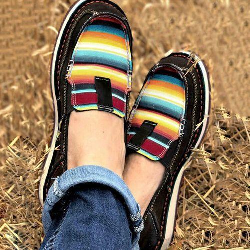 2020新款大码单鞋女鞋平底40-43女鞋独立站wish套脚厚底女鞋