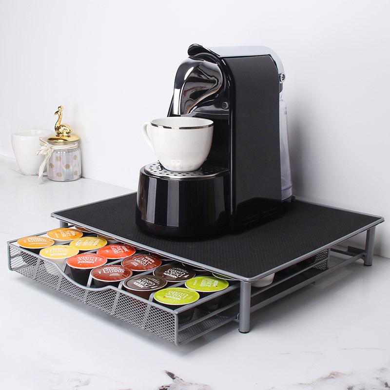 Fengyue المصنع مباشرة الإبداعية درج نوع كبسولة حامل القهوة Duoqusi معدن القهوة كبسولة تخزين الرف