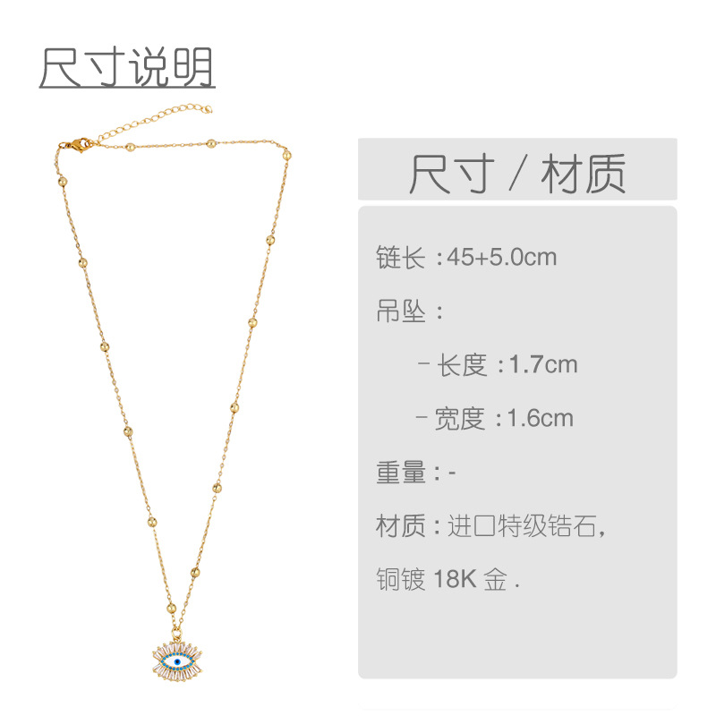 Fashion jewelry micro-colored gemstone life tree round pendant cheap necklace clavicle chain NHAS202597