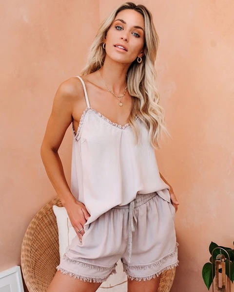 summer new style ladies fashion V-neck suspenders vest T-shirt tops NSYF2163