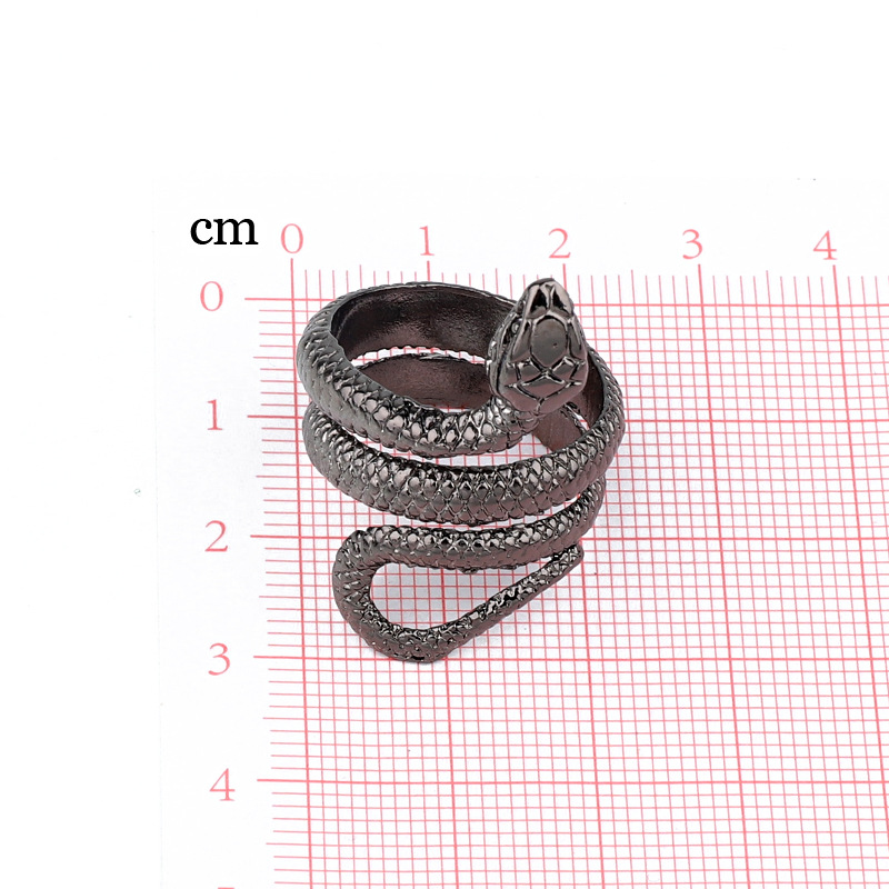 fashion trend jewelry punk personality snake ring retro fashion animal men's ring wholesale nihaojewelry NHGO221003