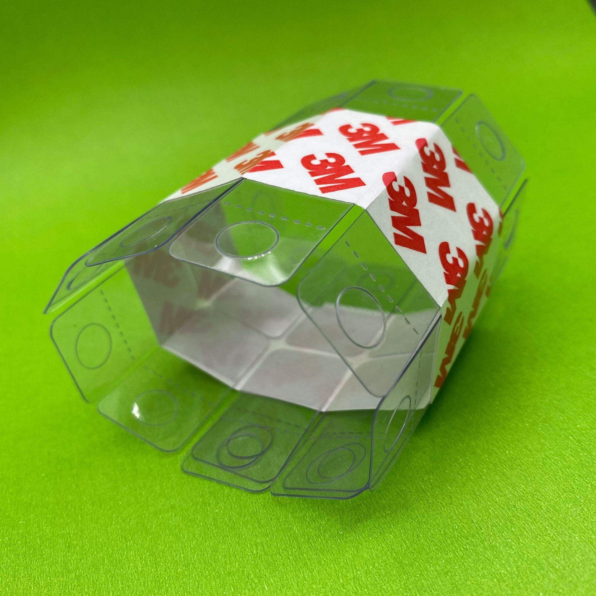 厂家批发PVC飞机孔自粘挂钩胶 包装盒PET塑料无痕高粘挂钩贴定制