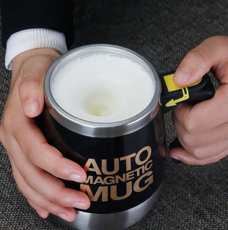 USB充电磁化杯自动奶粉搅拌杯懒人磁力咖啡杯马克杯礼品杯子定制