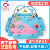 Детский игровой коврик, детский утолщенный зеленый ковер, детский коврик для ползания, складная подставка для фитнеса, музыкальная игрушка 0-2