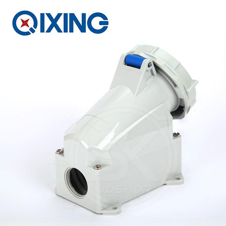 3芯32A明装固定墙壁工业防水插座QX1202 电源连接母插头2P+E 220V