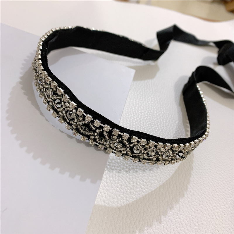 Retro black velvet hairpin hair hoop  temperament hair band Korean headdress elegant lady headband NHYQ194523