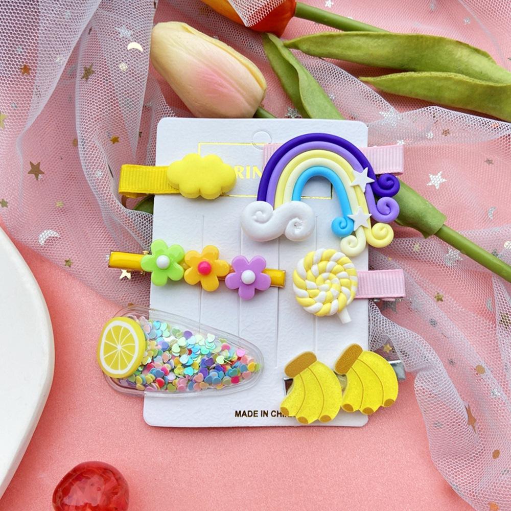Hairpin Korean child bangs clip side clip girl baby headdress combination wholesale nihaojewelry NHPJ225689