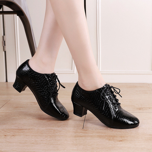 professional dance shoes women head leather stone soft sole Chacha Rumba latin jazz dance shoes