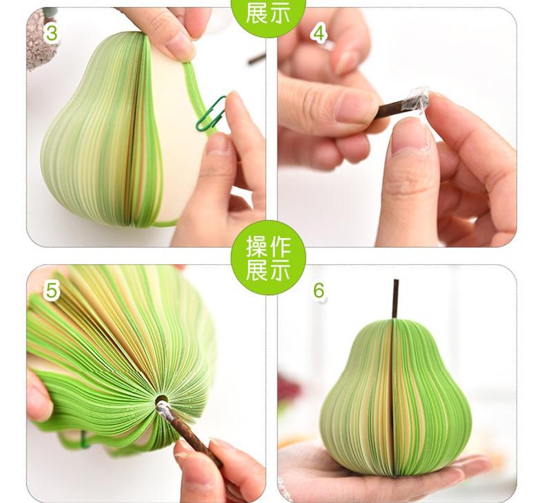 Korea Creative Stationery Cute Fruit Memo Postit Notes wholesale NHAH250221