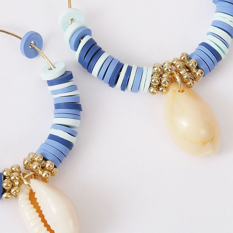 Bohemian earrings fashion soft ceramic shell beaded earrings trend beach style earrings nihaojewelry NHLA236274