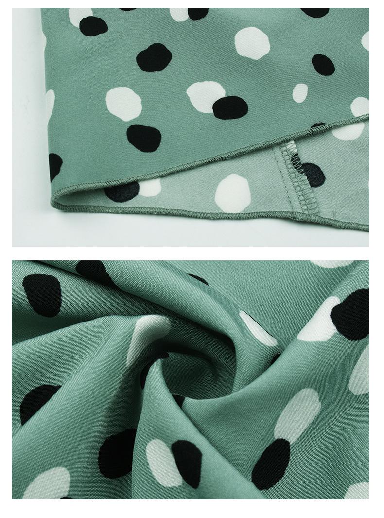 2020 autumn and winter new products classic print elegant square neck dress women NSKA212